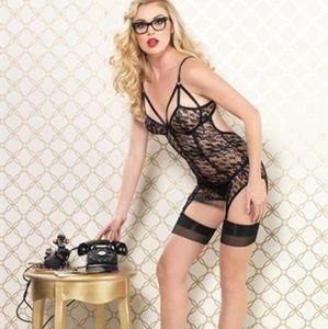 Lace Garter Dress and G-String Set